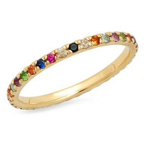 "Eriness ""Multi-Colored Eternity Band"""