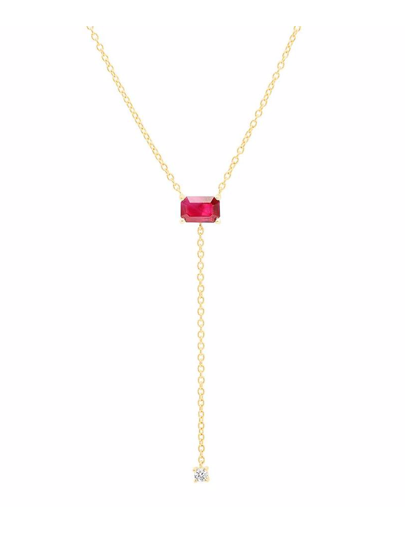 Solitaire Ruby Lariat