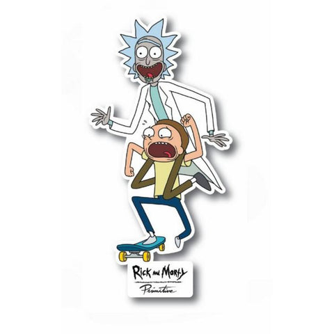 PRIMITIVE RICK AND MORTY R AND M SKATE STICKER