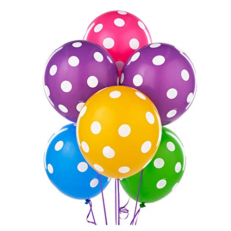 Polka Dot Balloon 1 Pcs - Color Choice