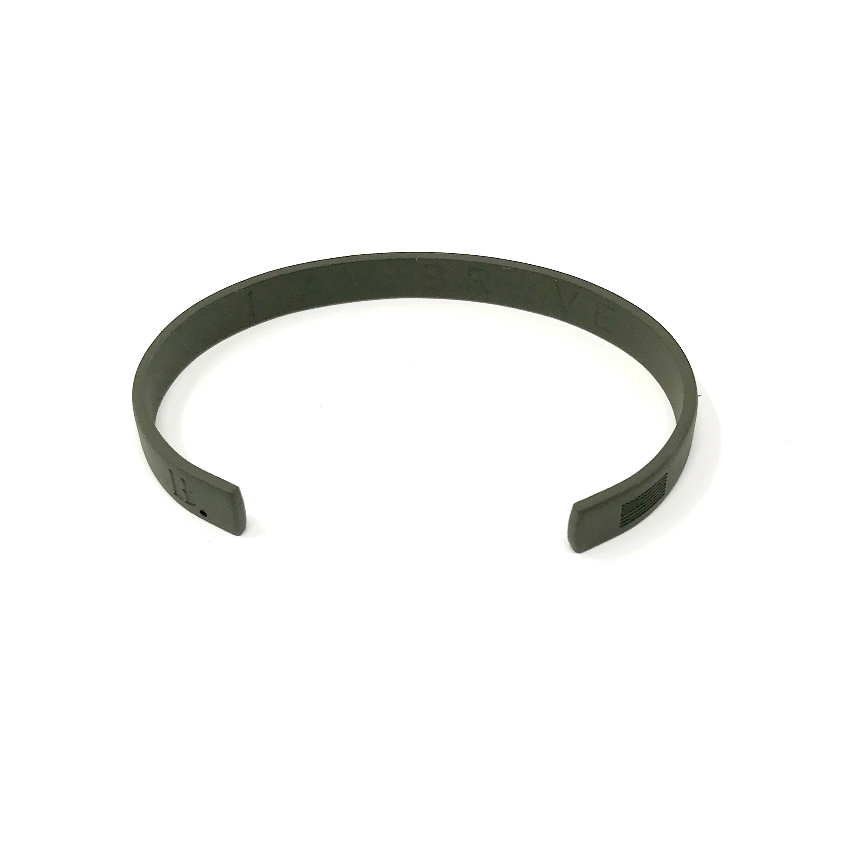 Thin Countless Band Matte Military Green Womens