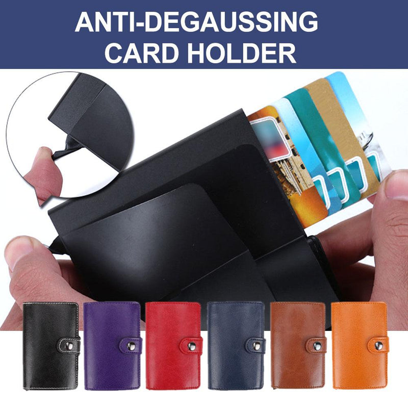Anti-Degaussing Card Holder