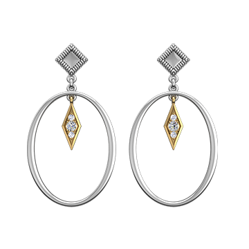 Victoria Jones Jewelry Two-Toned Dangle Earrings