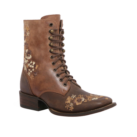 BOTA LACE UP CAFÉ/TABACO MEA033