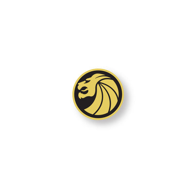 Gold Lion Logo Pin