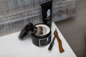 shaving cream and brush for wet shaving and shaving your head beau brummell