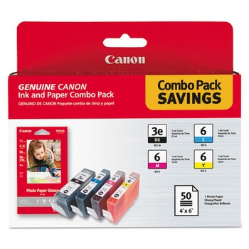 Canon BCI-3 / BCI-6 Color, Paper Ink Combo Pack, Canon 4479A292