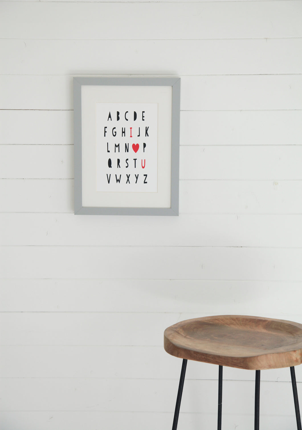 Alphabet I Love You Print - RED