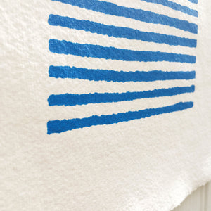 Screen print Blue and White Breton Top