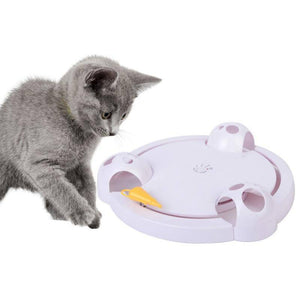 Interactive Cat Toy - Automatic Rotating Mouse Chasing Game Home & Garden Gadget Monkey