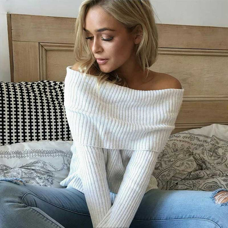 OFF SHOULDER WINTER SWEATER