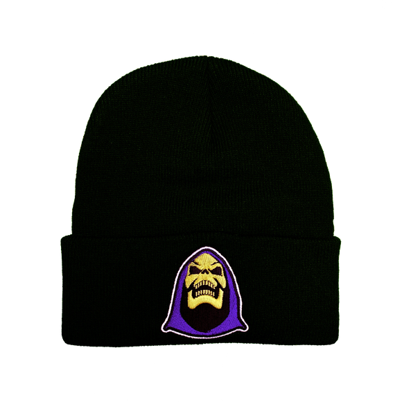 Skeletor Embroidered Beanie - UNMASKED Horror & Punk Patches and Decor