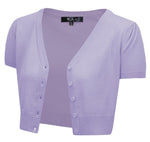 Short Sleeve Cropped Bolero Cardigan Sweater Vintage Inspired Pinup HB2137(S-L) - Cardigan