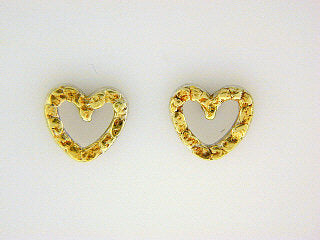 EP024  Heart Silver Earring Posts