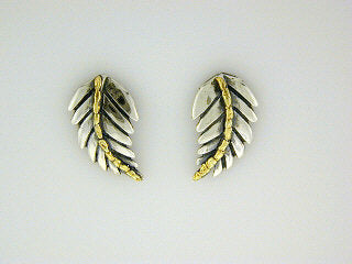 EP059  Leaf Silver Earring Posts