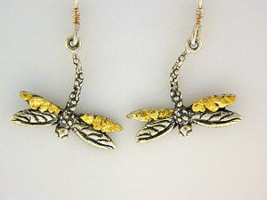 EW107  Dragonfly Earring Wires