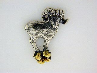 TT031  Dall Sheep Standing Tie Tack