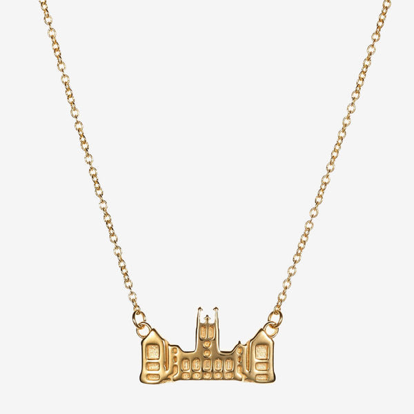 Gold Boston College Gasson Hall Necklace