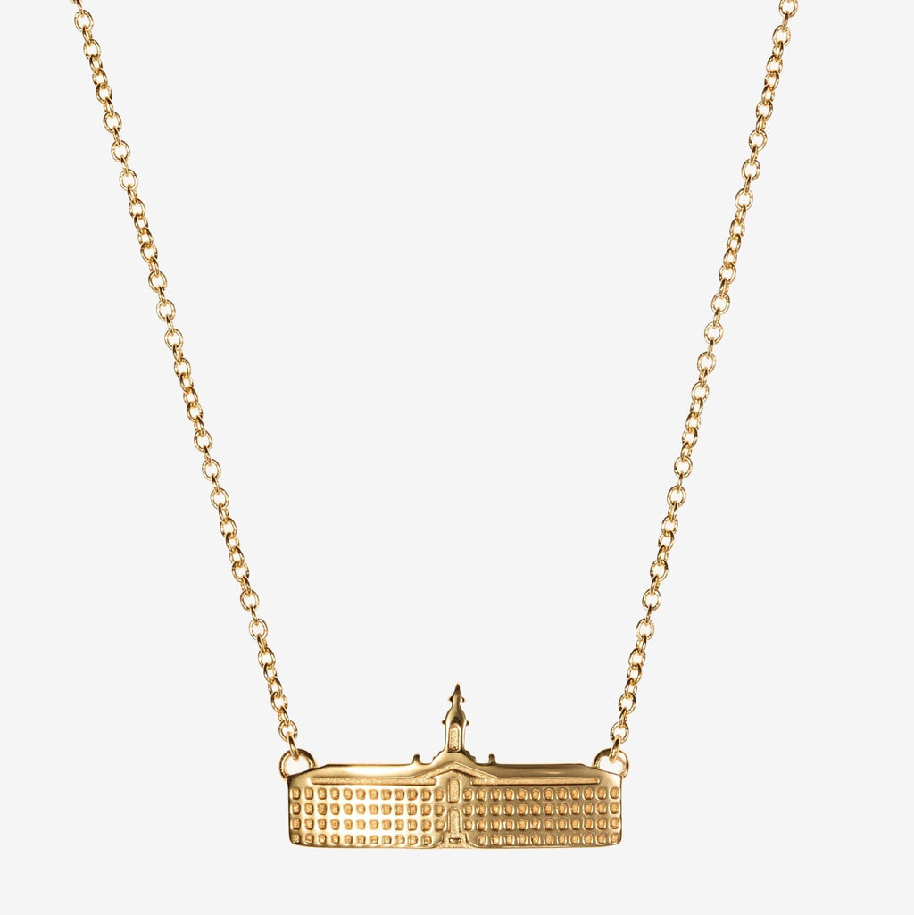 Gold Princeton Nassau Hall Architecture Necklace