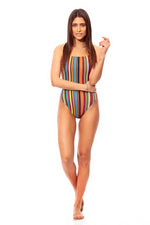 Strappy Mikado One-piece Swimsuit