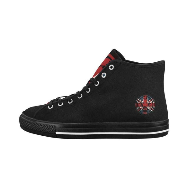 Union Jack The Original Mens Black Hi Top Style Canvas Shoes