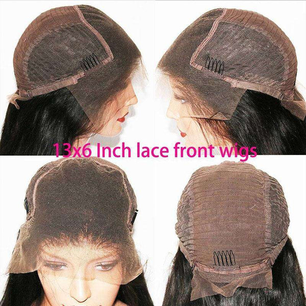 13x6 Lace Frontal Wigs HUman Hair Curly Brazilian Virgin Hair Glueless Lace Wigs Pre-Plucked 13x6 Lace Front Wigs with Baby Hair