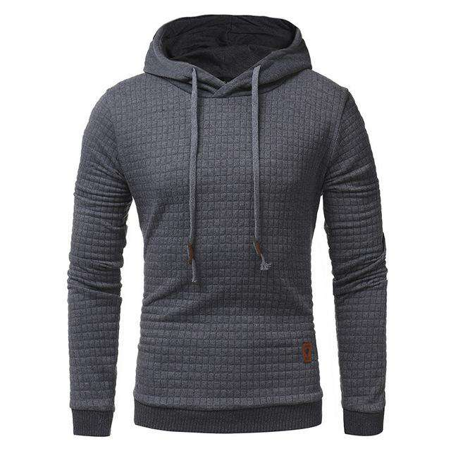 Hot Male Long Sleeve Solid Color Hooded Men's Sweatshirt Mens Hoodies