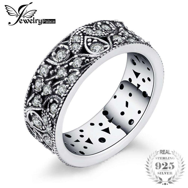 Jewelrypalace 925 Sterling Silver Hollow-out Flower Statement Ring Gifts For Women Anniversary Gifts Fashion Jewelry New
