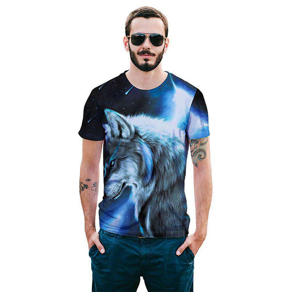 Cool T-shirt 3D T-shirt Print Wolf Short Sleeve Summer Tops Tees Tshirt Fashion Animal Print Shirt