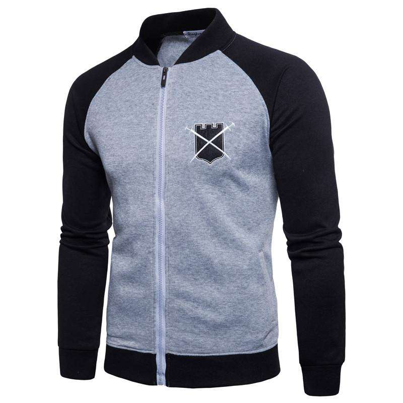 Men Hoodies Zipper Jacket Baseball Tracksuit Plus Size