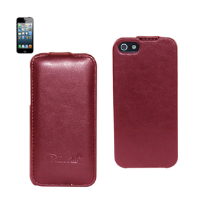 FITTING CASE APPLE IPHONE 5 HORSE SKIN PATTERN RED