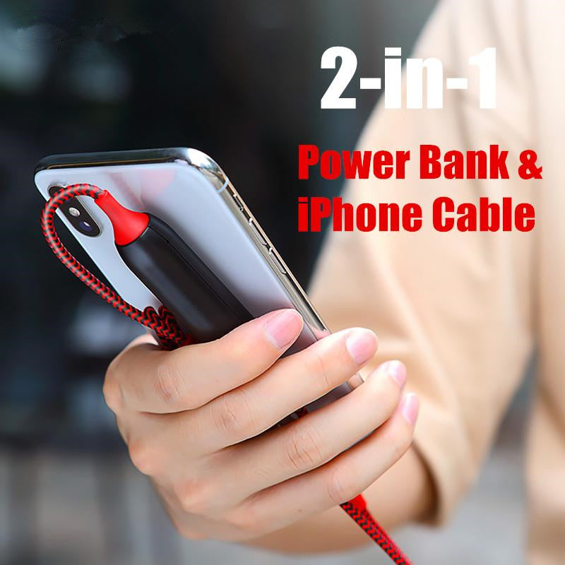 2 in 1 Power Bank and iPhone Cable