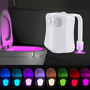 8 Changing Colors Motion Activated Toilet Night Light