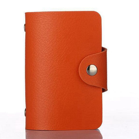 Leather Function 24 Bits Credit Card Holder