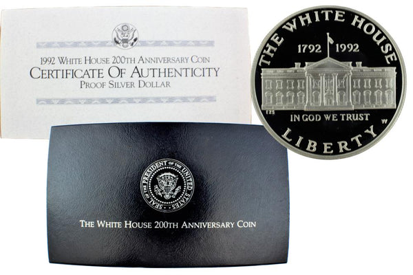 1992 White House Commemorative Silver Dollar Proof