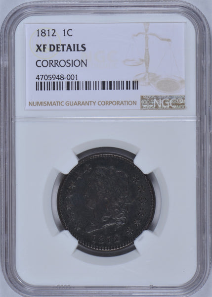 1812 Classic Head Large Cent NGC XF Details #188196