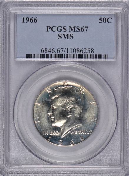1966 Kennedy Half Dollar PCGS MS 67 SMS #187405