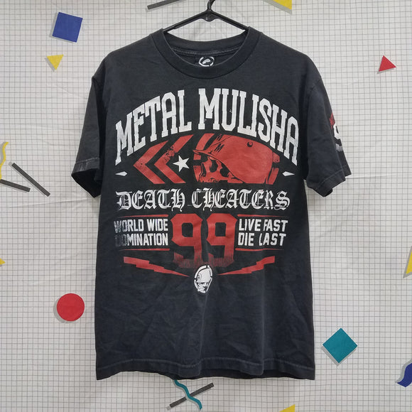 Metal Mulisha Death Cheaters Shirt Size M