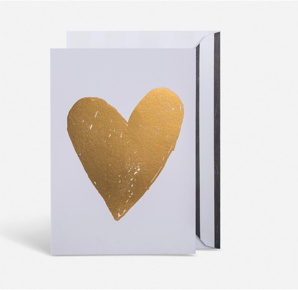 Gold heart card