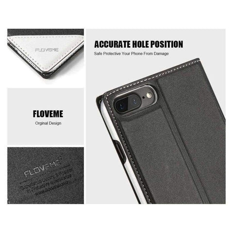 Case For iPhone 5 5S SE iPhone 8 Case Luxury Brand Flip Card Slot Leather Coque Phone Cover For iPhone X 7 6 6S Case