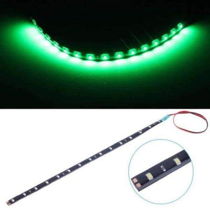 White Yellow Red Blue Green 15 SMD 30CM 2835 LED Strip Light Flexible Car Decor Motor Truck Motorcycle Decoration