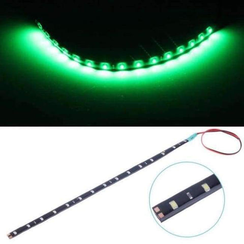 Image of Planet Gates Green White Yellow Red Blue Green 15 SMD 30CM 2835 LED Strip Light Flexible Car Decor Motor Truck Motorcycle Decoration