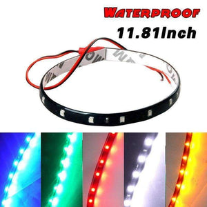 Planet Gates Red White Yellow Red Blue Green 15 SMD 30CM 2835 LED Strip Light Flexible Car Decor Motor Truck Motorcycle Decoration