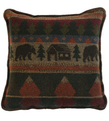 Cabin Bear Pillow 20x20