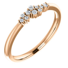 Load image into Gallery viewer, 14K Gold 1/10 CTW Diamond Stackable Cluster Ring