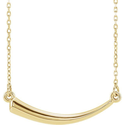 14K Gold Italian Horn Pendant with Necklace