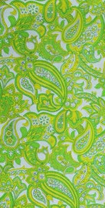 Green Paisley Cotton Blend