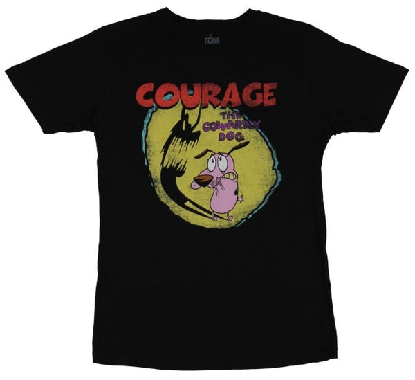 Courage The Cowardly Dog -  Courage Scary Shadow Tee