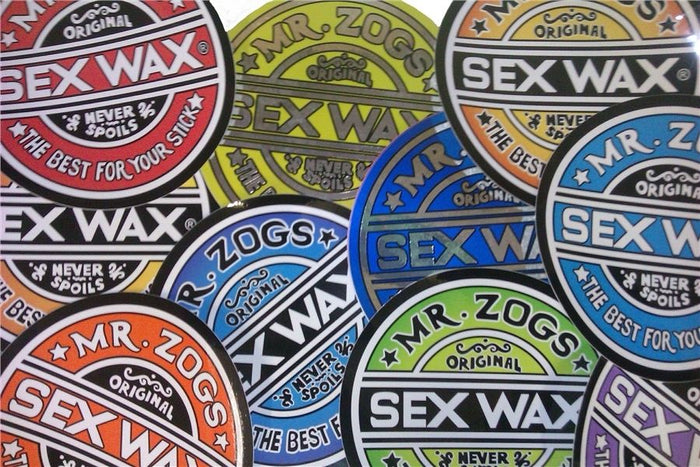 Pack of 2 Genuine Mr Zogs Sex Wax Stickers. 3""