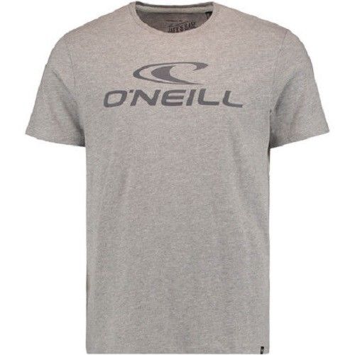 O'Neill Mens Jacks Logo T Shirt in Silver Melee